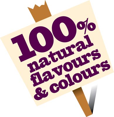100 Natural Flavours ColoursPlacard 3